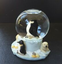Penguin  snow globe with penguin and bear by Regency Fine Arts