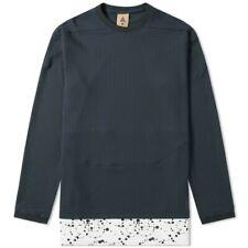 Nike NikeLab ACG Waffle Top Crew Neck Long Sleeve Shirt Black White AQ3519-010