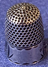 Sterling Thimble, Crown Mark, Size 6, Monogram Space