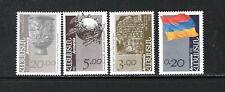 Armenia 1992-93 UPU EMBLEM, RUNIC MESSAGE, SILVER CUP SC 433-39 MNH