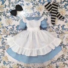 1/3 BJD SD Clothes - Housemaid Dress Set (White&Blue) | OneDolLand
