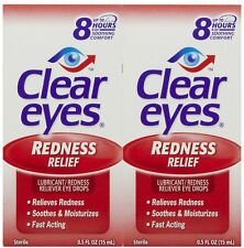 Clear Eyes Redness Relief Eye Drops 1oz : 24 pack