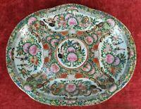 PLATEAU PORCELAINE CHINOISE. FAMILLE ROSE. CANTON. XVIII-XIX SIÈCLE.