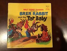 Walt Disney Presents Brer Rabbit And The Tar Baby 1971 Book Uncle Remus
