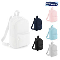 BagBase Mini Essential Fashion Backpack BG153 - Unisex School College Rucksack