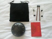 More details for steel tongue drum 8 note 6 inch hand pan steel percussion drum brand new.