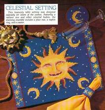 CELESTIAL SETTING PLACE MAT SUN COASTERS PLASTIC CANVAS PATTERN INSTRUCTIONS