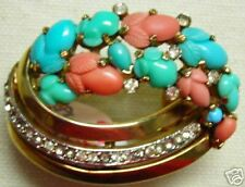 ** TRIFARI BROOCH HAT PIN JEWELRY 1940's *