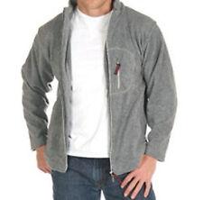 New Gray Polar Fleece Zip-Front Cardigan Sweatshirt Sweater Jacket Large L