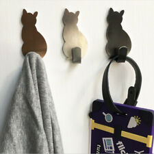 2pcs Self Adhesive Hooks Stainless Storage Holder For Clothes Bathroom Kitchen