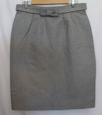 MAX MARA WEEKEND ~ Black & White Geometric Woven Dressy Work Pencil Skirt 12