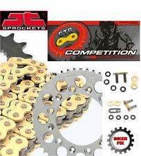 Yamaha YZ125 E,F 78-79 GOLD Extra Heavy Duty X-Ring Chain and Sprocket Kit Set
