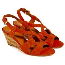 Boxed Ash Orange Suede Kadiah Bis Wedge Sandal 36 RRP £139