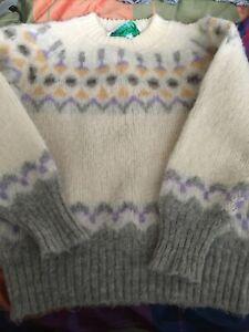 Vintage Finland 'Eider Knit' Wool Knit Jumper Size M