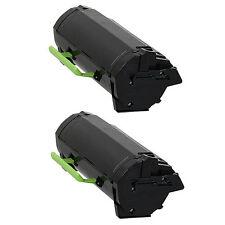 2 Pk Lexmark MX610de MX511dhe MX511de MX510de Black Extra High Yield Toner 601X