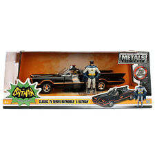 Jada Toys Batmobile 1966 TV Series with Batman Robin Figure 1:24 98259 Black