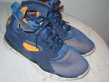 2012 Nike Air Huarache Basketball 2012 Loyal Blue/Vivid Orange Shoes! Size 10.5