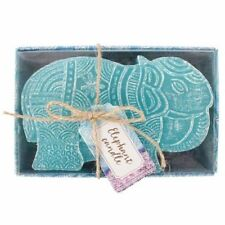 Small Turquoise Elephant Candle - Boxed