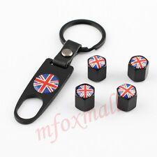4PZ auto accessori CATENA CHIAVE RUOTE PNEUMATICI PNEUMATICO VALVOLA CAP UK Regno Unito bandiera