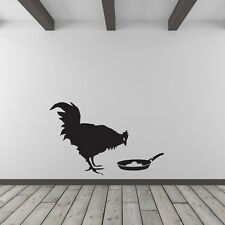 Banksy Chicken and Frying Egg Vinyl Wall Art Decal for Home Decor / Interior ...