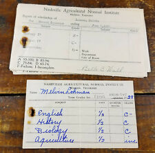 1920s 30s Nashville Agricultural Normal Institute Madison TN Tenn Report Cards