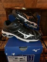Mizuno Wave Voltage Women's Black Silver Volleyball Shoes V1GC186004