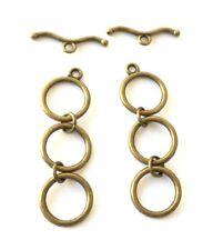 6 Bronze Magnetic Clasps
