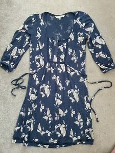 Womens Dress - FAT FACE - Pretty Blue & White/Floral - Size 8 - Summer Holidays