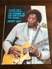 1990 VINTAGE 8X11 PRINT Ad ERNIE BALL STRINGS FOR PLAYING THE BLUES BUDDY GUY
