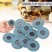 10PCS FLAP GRINDING SANDING DISCS 50mm 2'' 40 60 80 120 GRIT ANGLE WHEEL ZIRCON