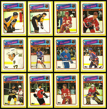 1988 Topps Hockey NHL Card Insert Sticker Set of 12 All Stars 88-89 Gretzky