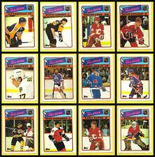 1988 Topps Hockey NHL Card Insert Sticker Set of 12 All Stars 88-89 Gretzky