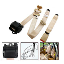 Automatic Beige 3 Point Safety Straps Seat Belt Buckle Kit For RV Car Pickup SUV