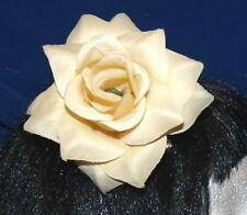 LARGE CREAM IVORY ROSE ROCKABILLY FLOWER 30,40's HAIR GRIP