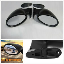 Black Universal California Classic Door Side Mirror Rear View LED Turn Signals