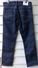 LEE L2 LO SLIM Mens Jeans Black Denim Button Fly W34 L31 RRP$160White Label NWOT