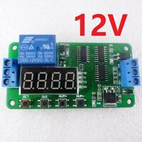 Newly! V3.0 12V 18 Functions Low Pulse Signal PLC Cycle Delay Timer Relay Switch