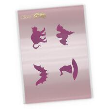 """Halloween Cookie Stencil / Cake Stencil / 2"""" (5 cm) Craft Stencils"""