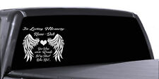 IN MEMORY OF WINGS CUSTOM PERSONALIZE VINYL DECAL STICKER CAR TRUCK WALL DECOR