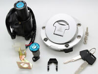 Motorcycle Fuel Gas Cover Tank Cap Set Ignition Switch Lock Key Kit For Honda