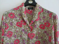 Multicoloured Floral Cotton Blouse / Top by Turnbull & Asser in Size 14