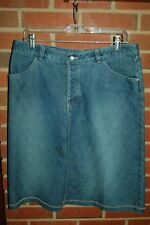ROYAL ROBBINS Blue Denim Jeans Skirt UNIQUE DETAIL Size 10