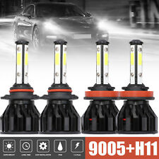 9005 + H11 4-Sided Led Headlight High-Low Beam Bulbs 5600W 560000Lm Total 6000K (Fits: Subaru)