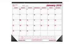 2018 Desk Pad Calendar Monthly, Brownline Chipboard Large Office Planner 22 x 17