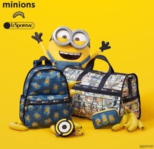 Lesportsac JAPAN Limited MINIONS Despicable Me Weekender Duffel Travel Bag Tote