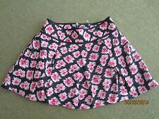 NWOT Juicy Couture 100% Silk Mini Skirt Size 6 Black Pink Pleats Exposed Zip