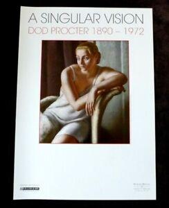 DOD PROCTER A Singular vision  1890-1972 ART EXHIBITION POSTER