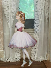 Vintage Miniature Dollhouse Pretty Ballerina Young Lady Christmas Dummy Board