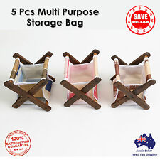 5pc Multi Purpose Storage Bag Mini Organizer Storage Basket Stationery