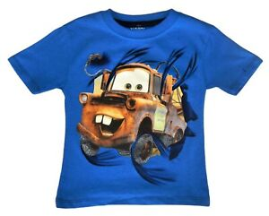 TOW MATER DISNEY CARS Boys Cotton Tee T-Shirt NEW Toddler's Sz. 2T, 3T or 4T